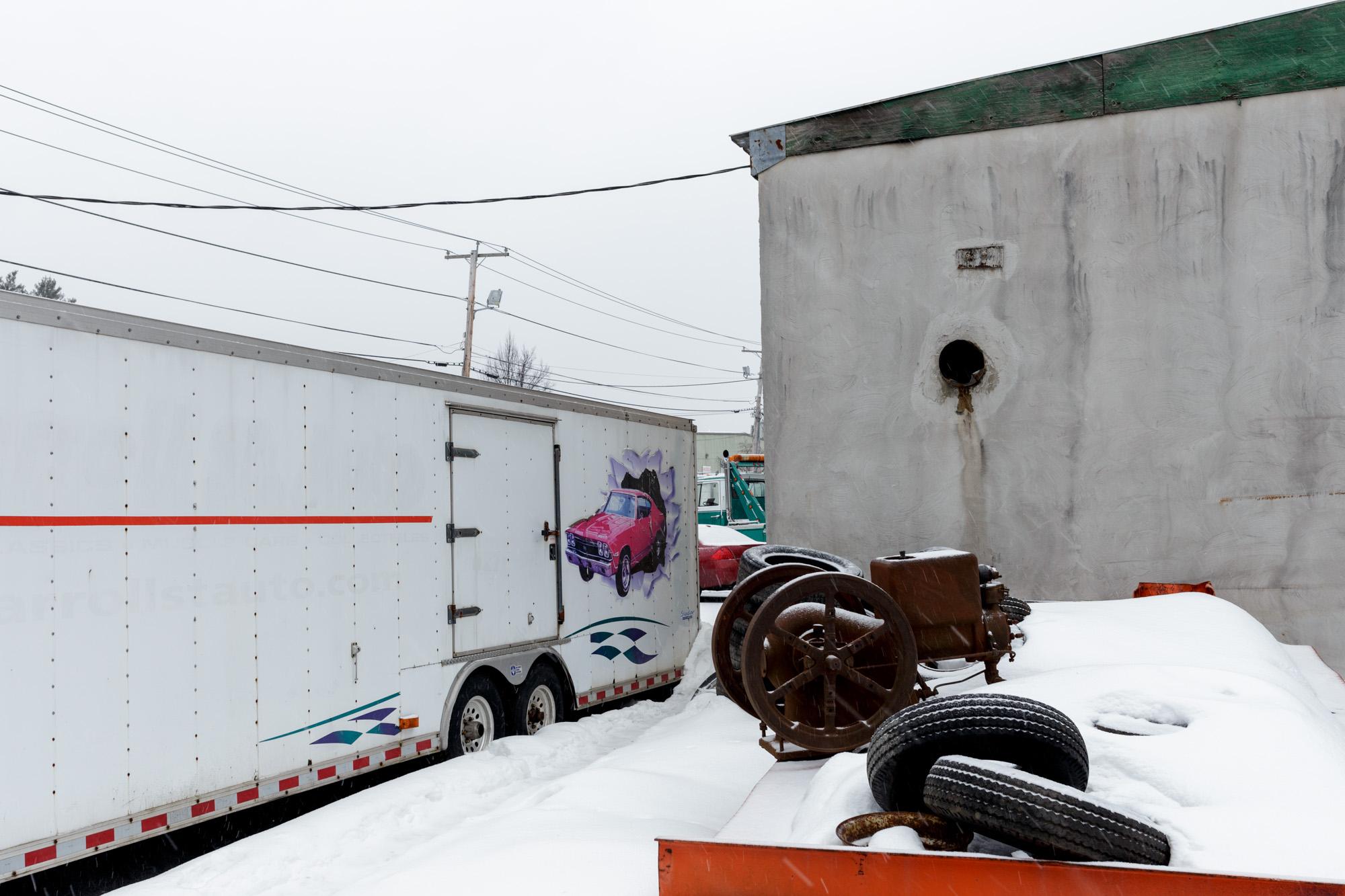 Behind Garage in Snow