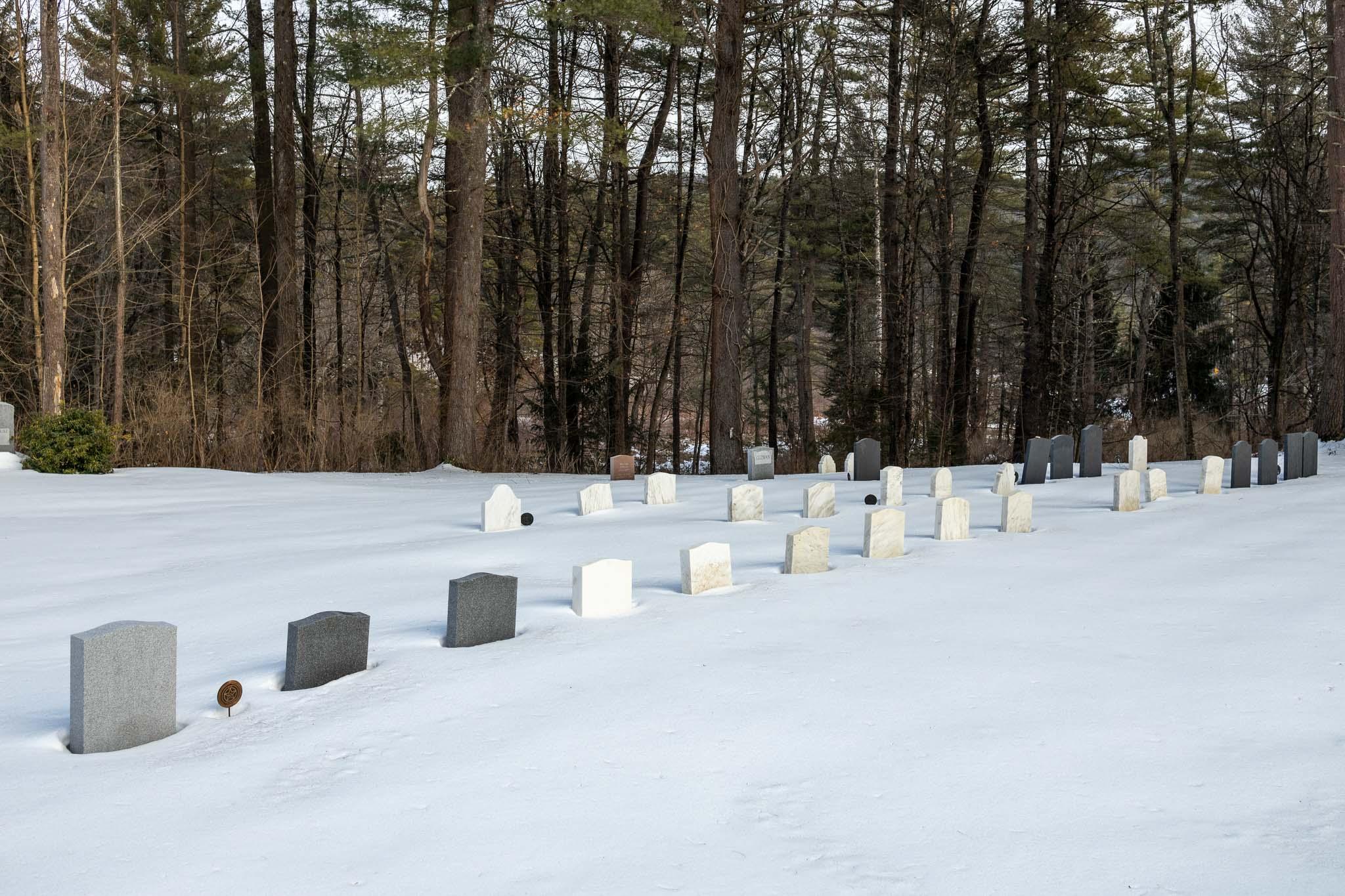 Headstones in Snow