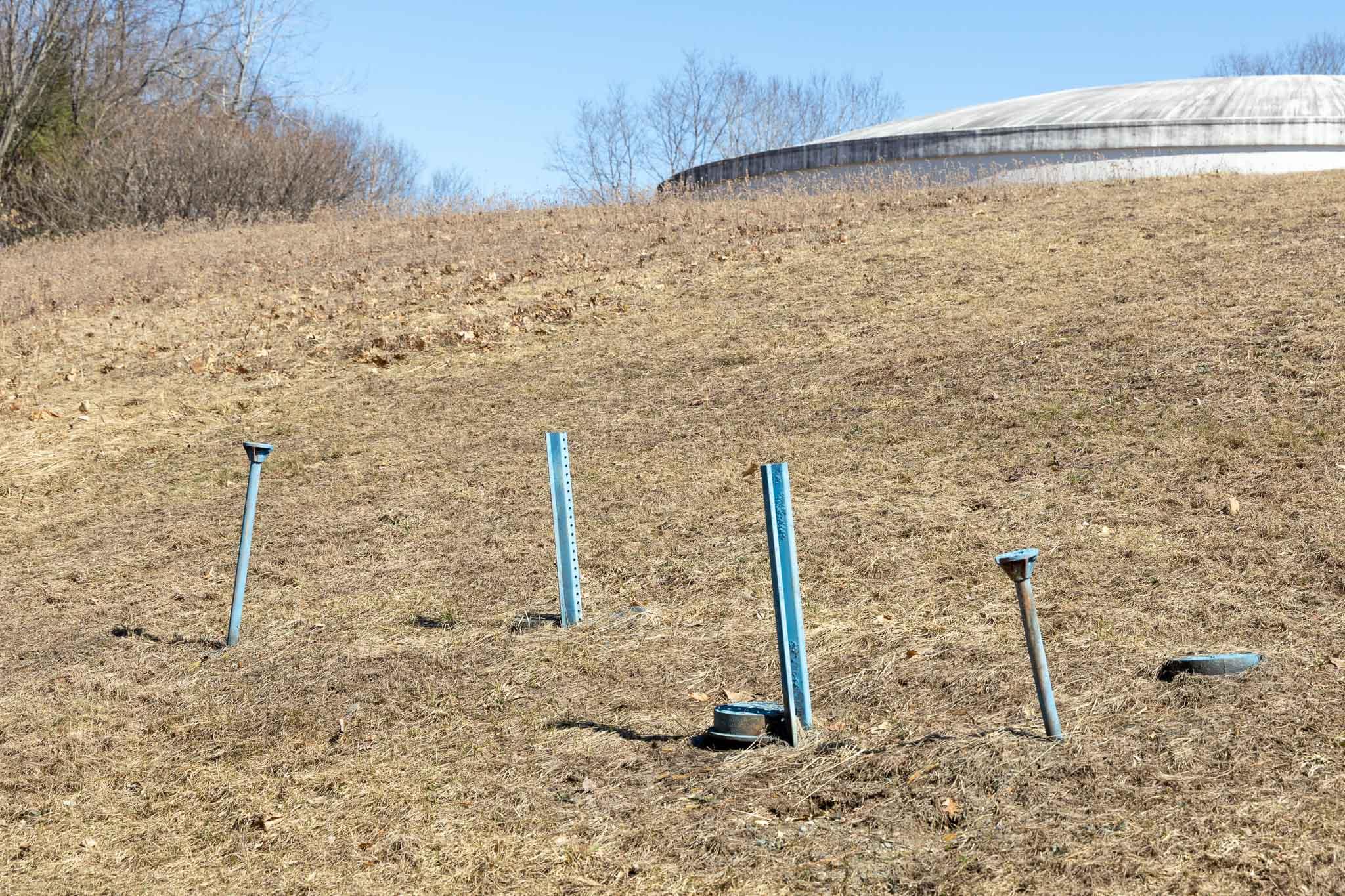 Poles Near Reservoir