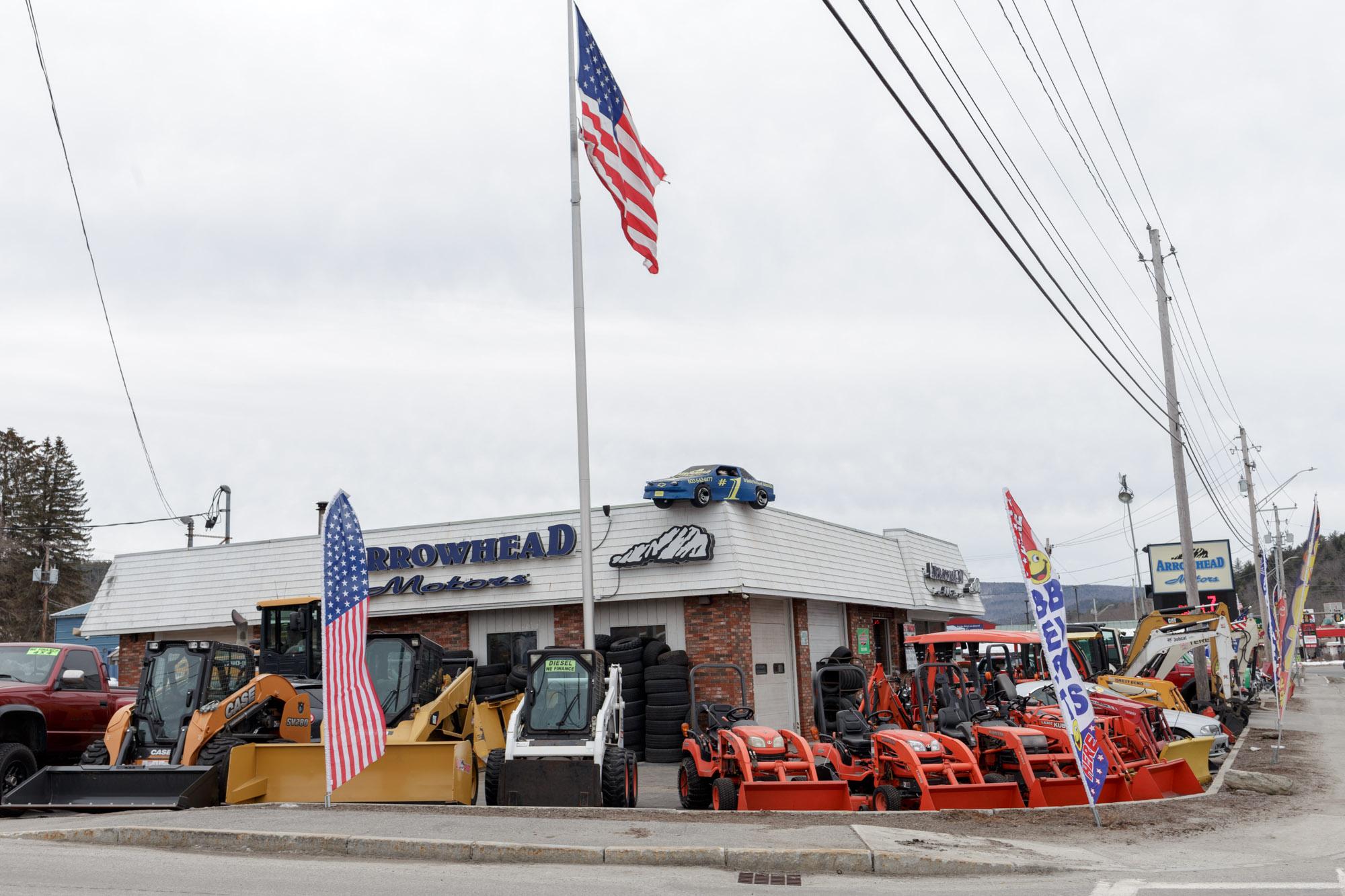 Flag Above Motor Store