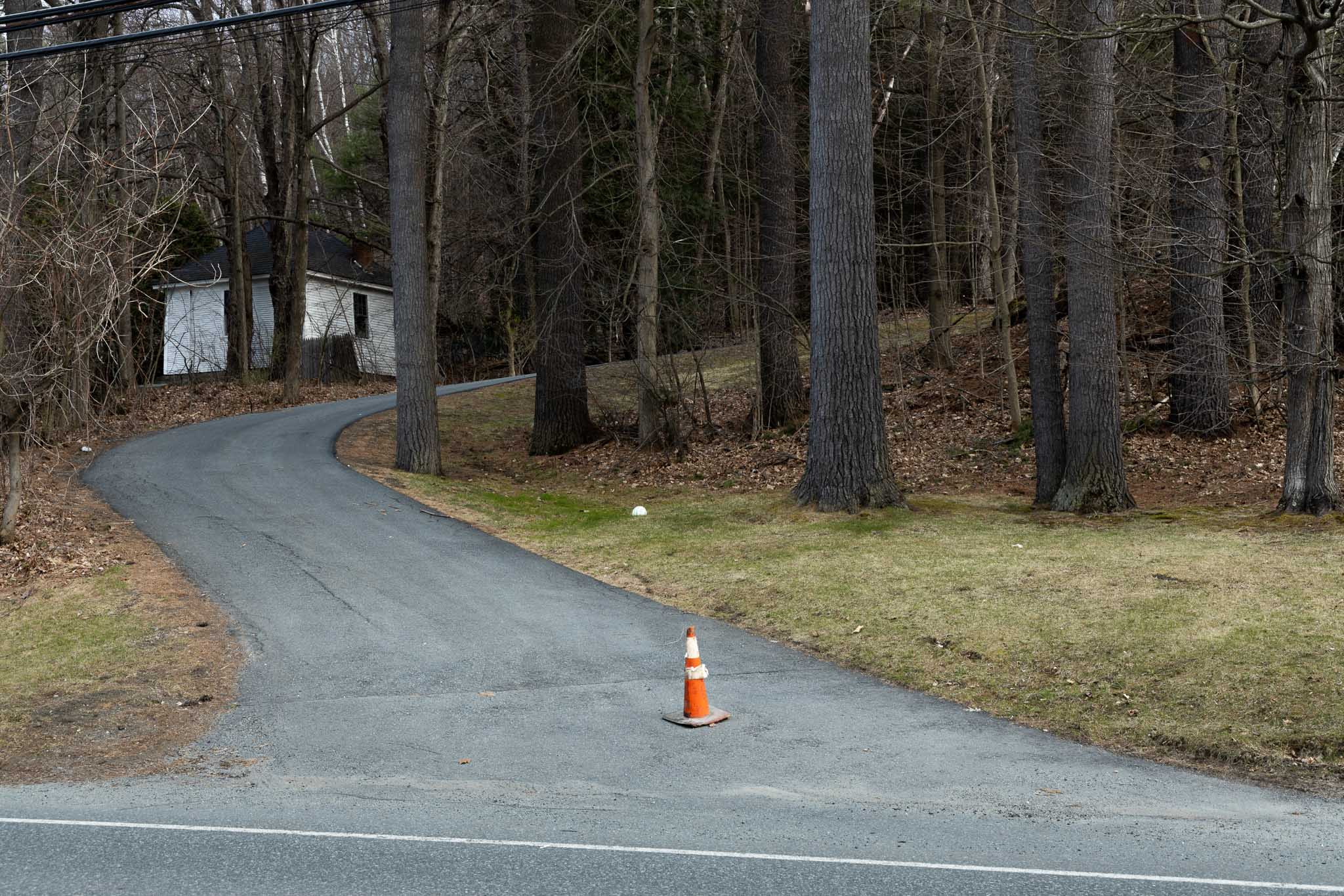 Cone in Driveway