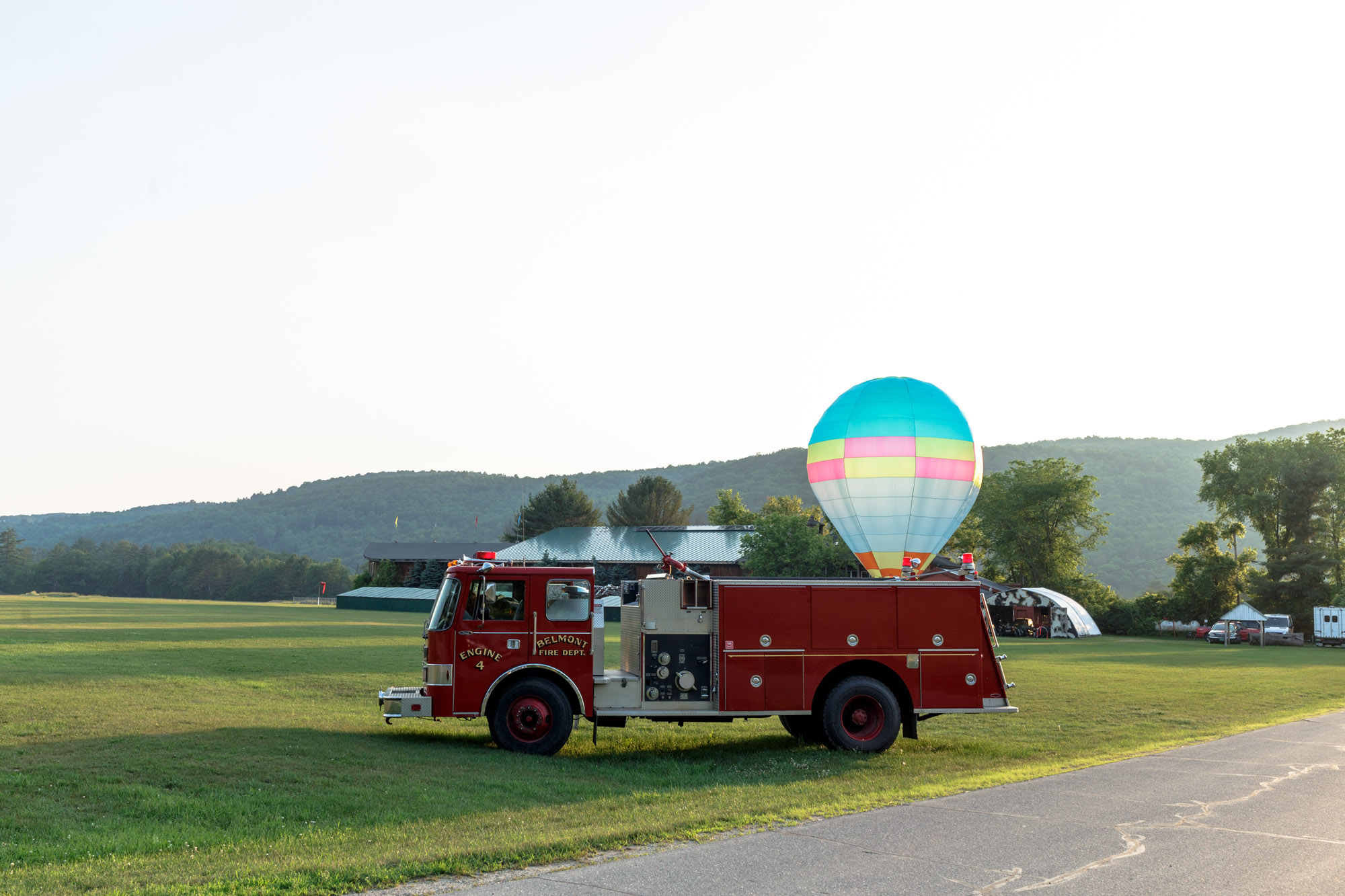 Fire Truck with Balloon