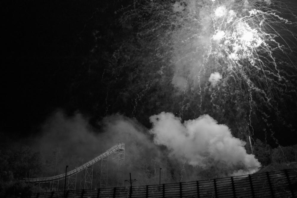 Fireworks over Ski Jump