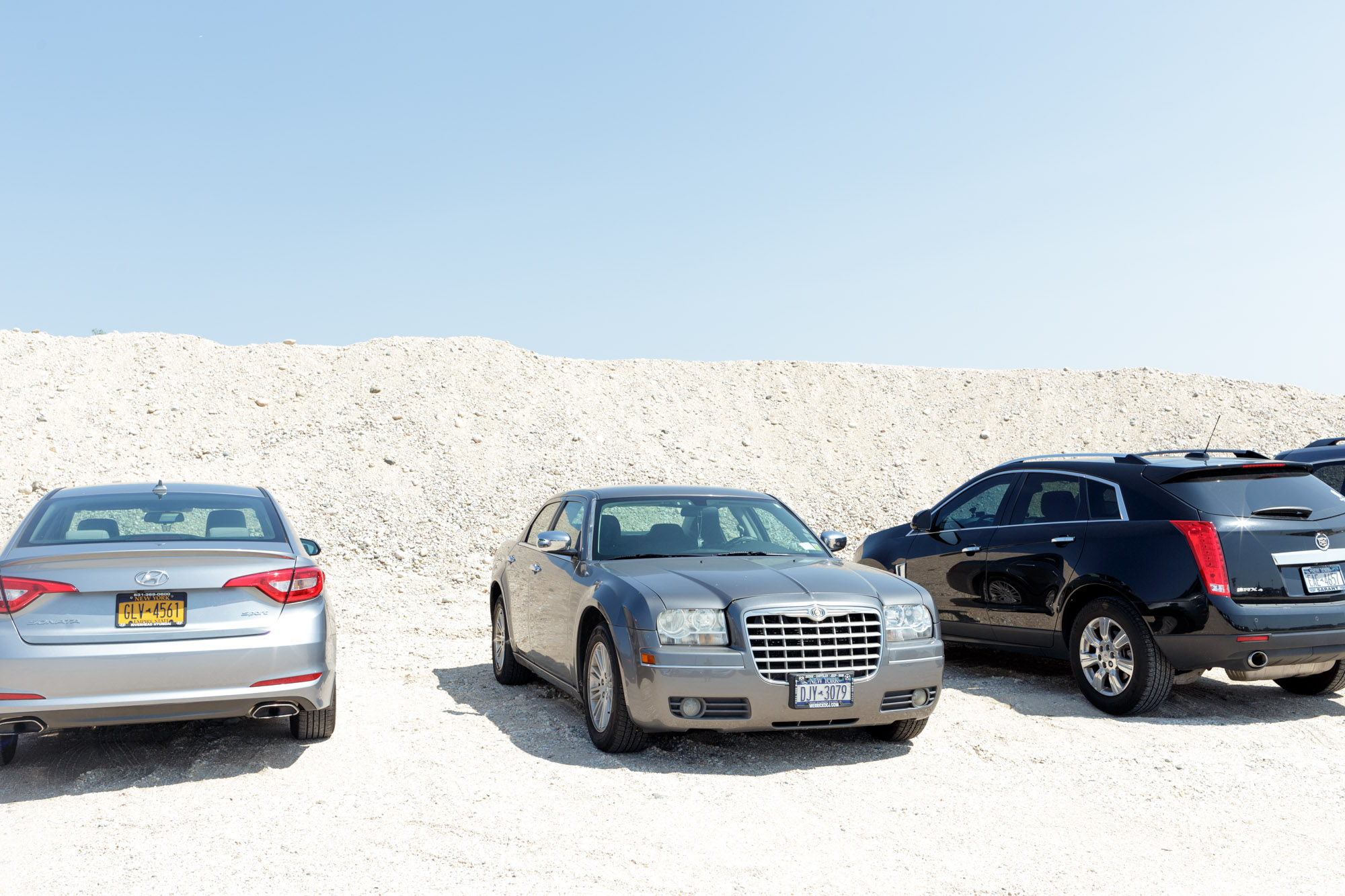Grey Car and Sand Dunes