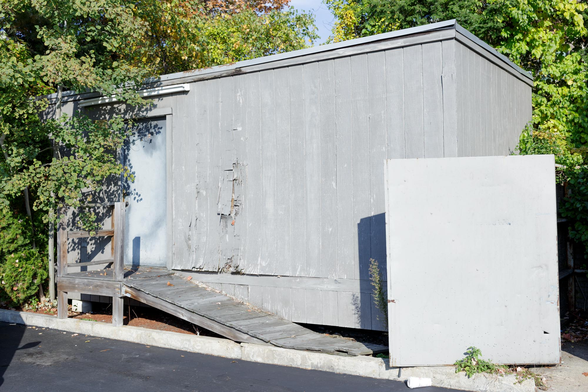 Grey Shed and Board