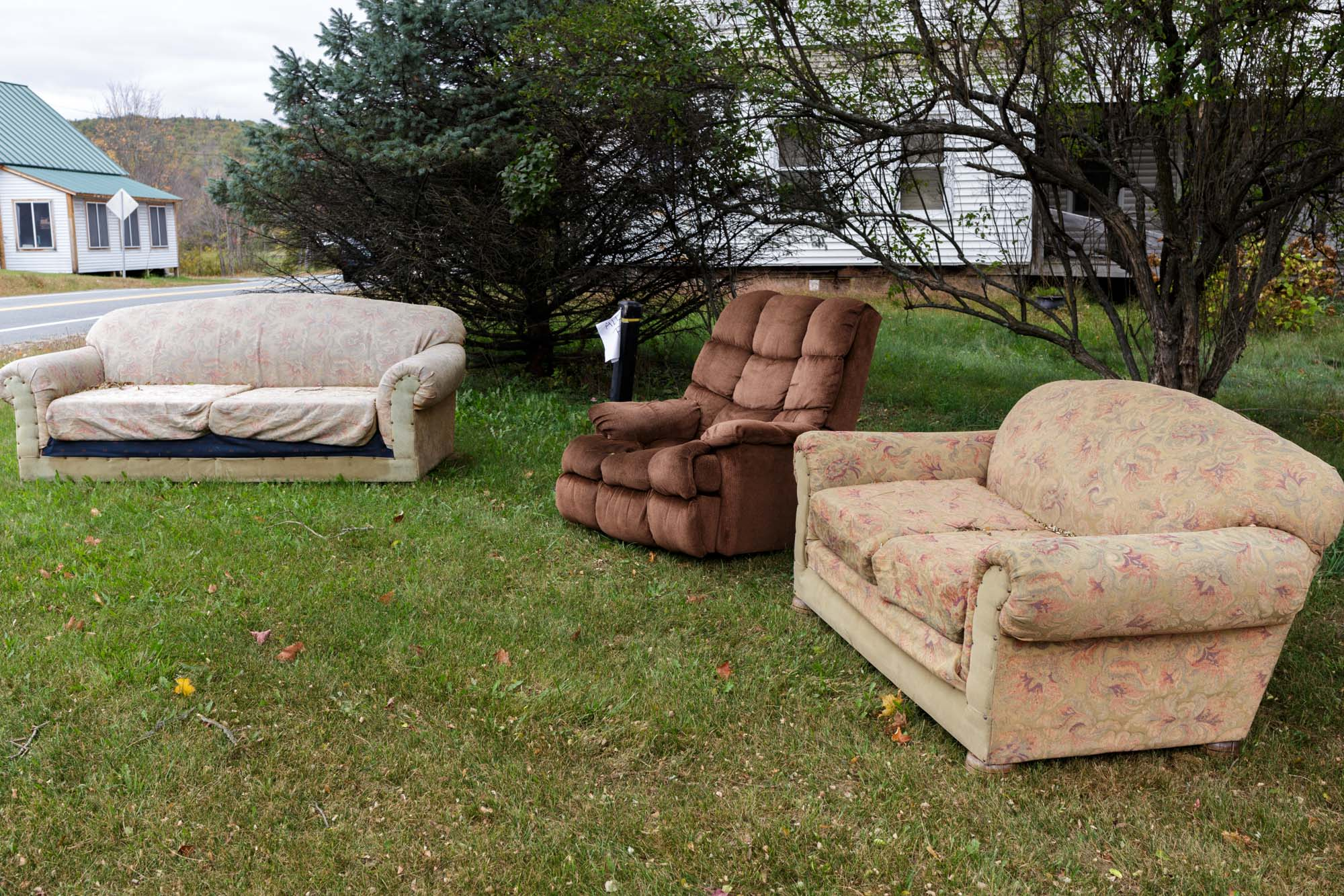 Furniture on Lawn