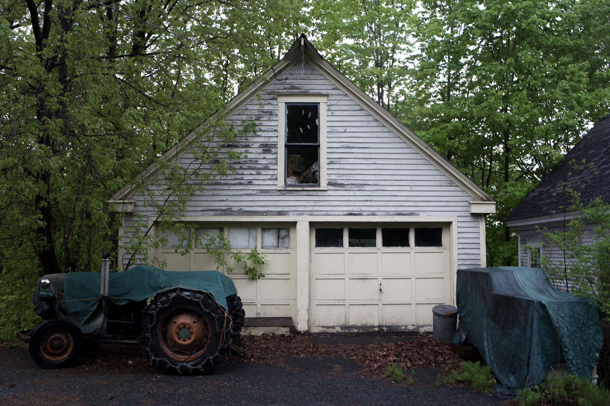 Garage and Tractor