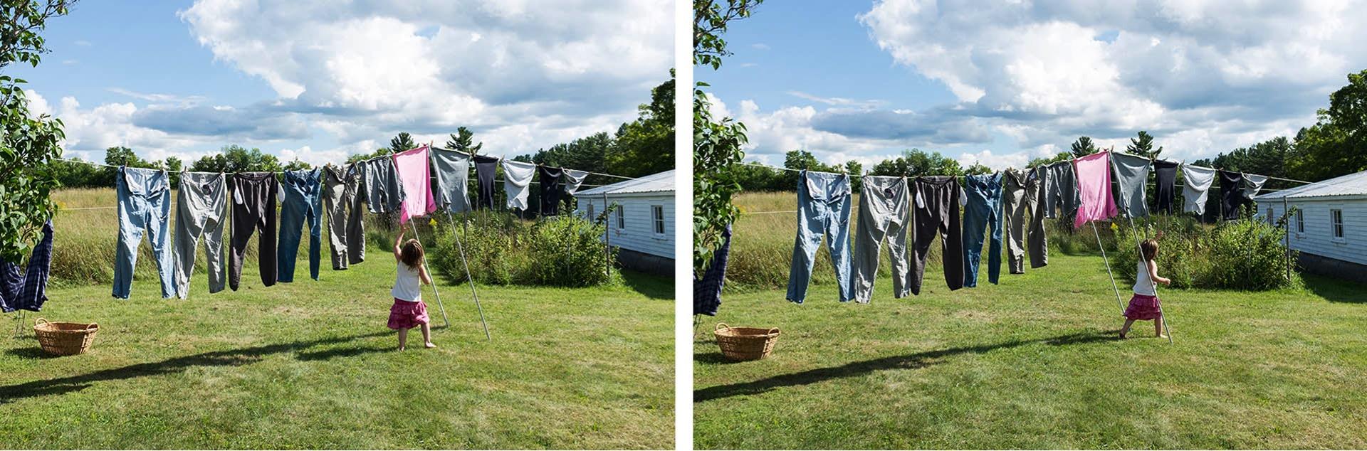 Stereo clothesline
